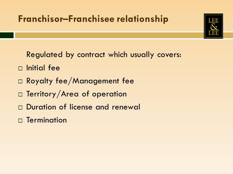 Franchisor–Franchisee relationship