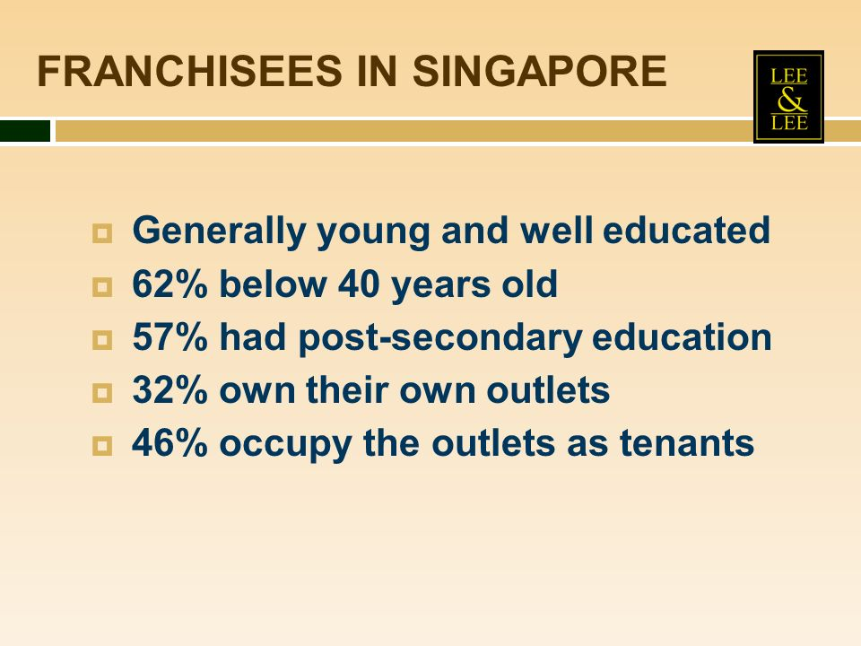 FRANCHISEES IN SINGAPORE