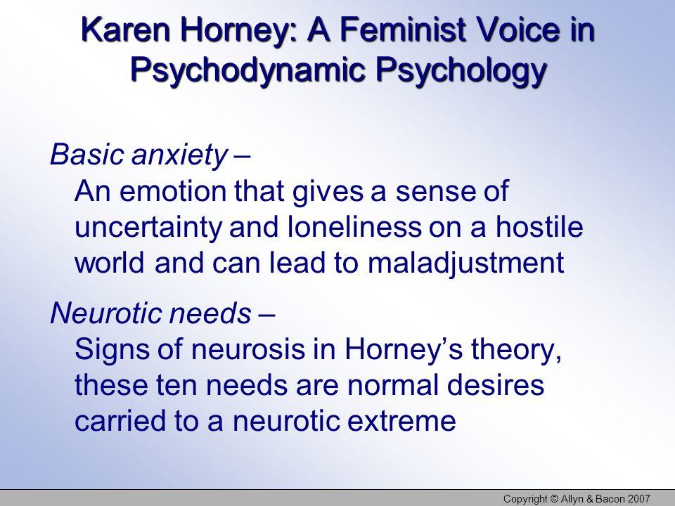 Karen Horney: A Feminist Voice in Psychodynamic Psychology