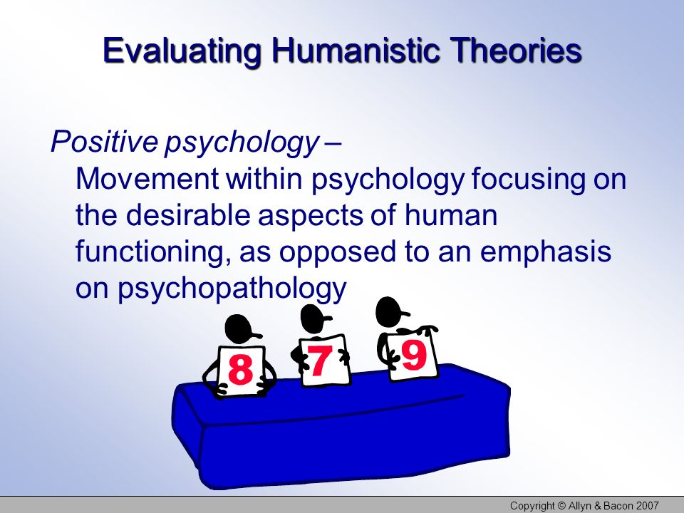 Evaluating Humanistic Theories