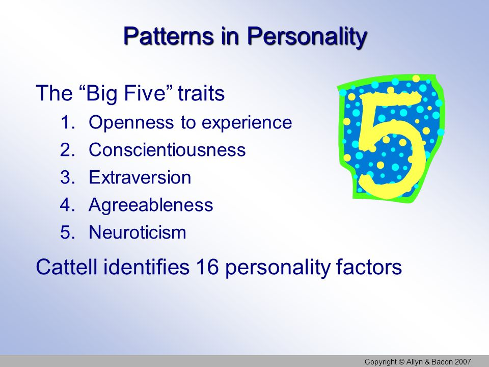 Patterns in Personality