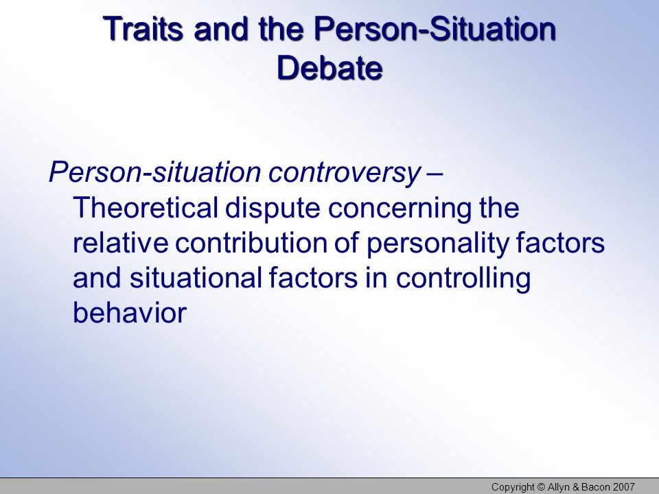 Traits and the Person-Situation Debate