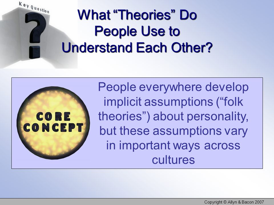 What Theories Do People Use to Understand Each Other
