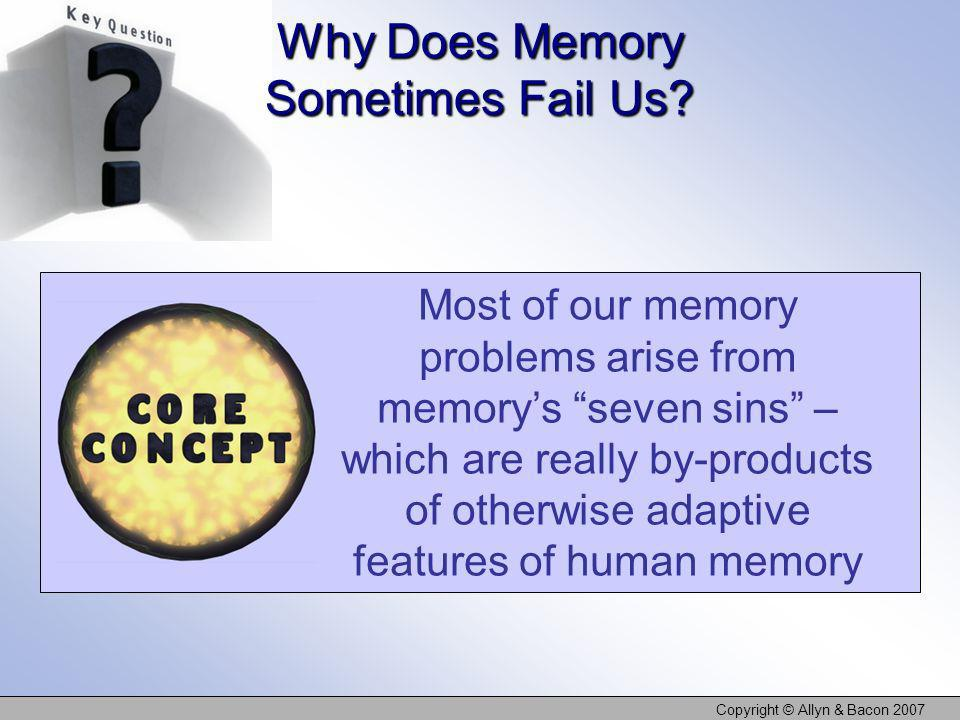 Why Does Memory Sometimes Fail Us