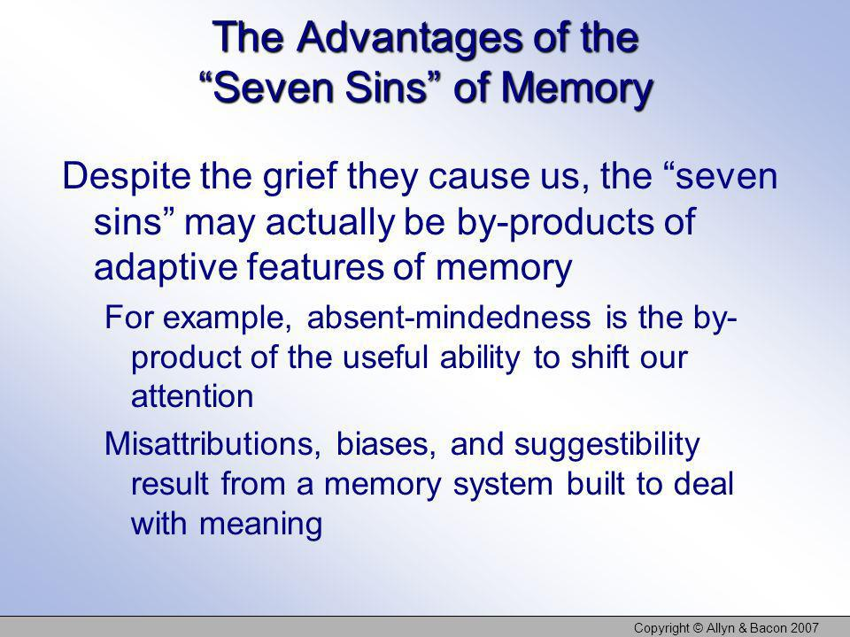 The Advantages of the Seven Sins of Memory