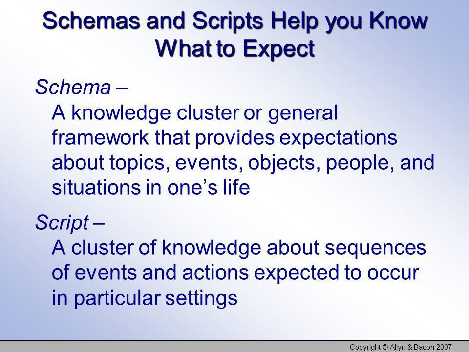 Schemas and Scripts Help you Know What to Expect