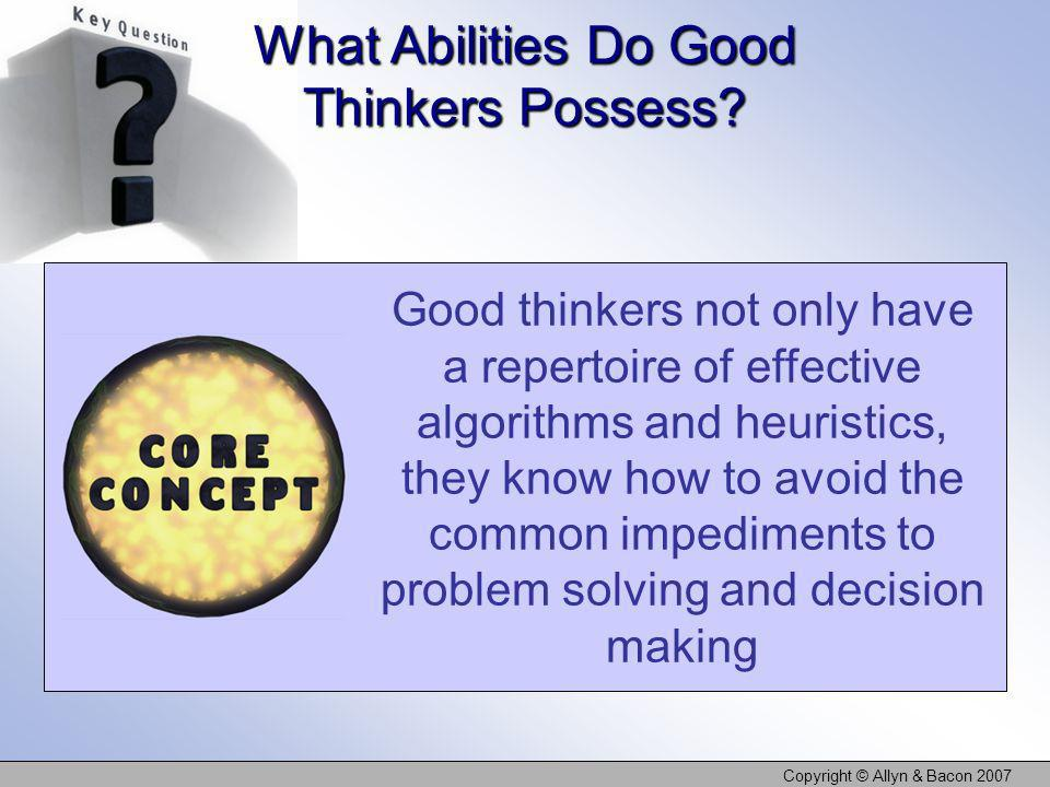 What Abilities Do Good Thinkers Possess