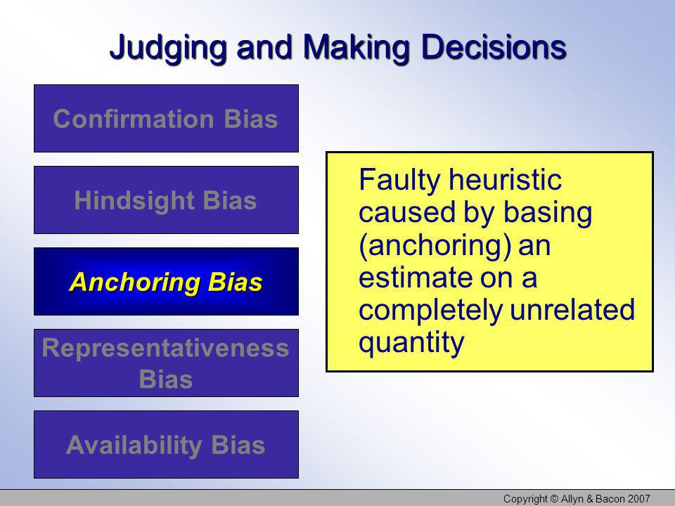 Judging and Making Decisions