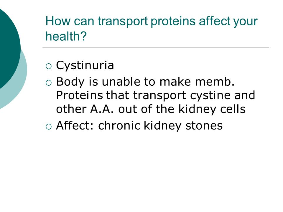 How can transport proteins affect your health