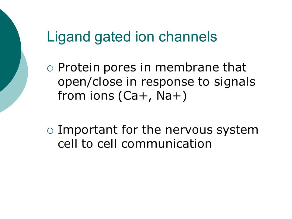 Ligand gated ion channels