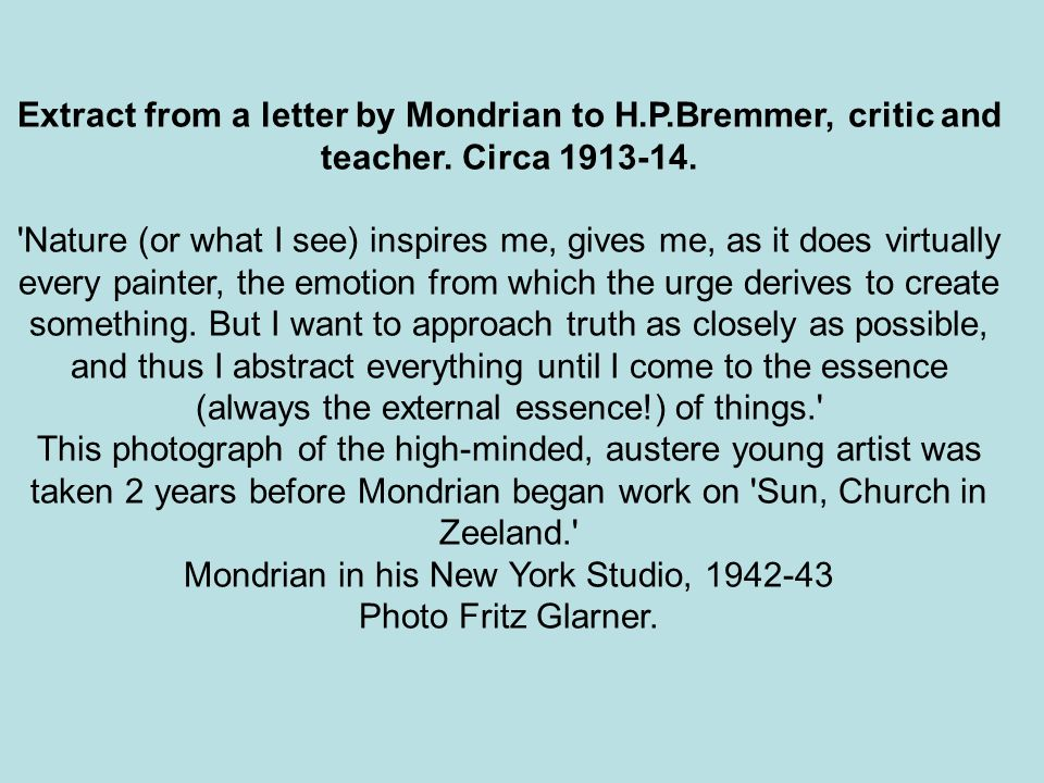 Mondrian in his New York Studio, 1942-43 Photo Fritz Glarner.