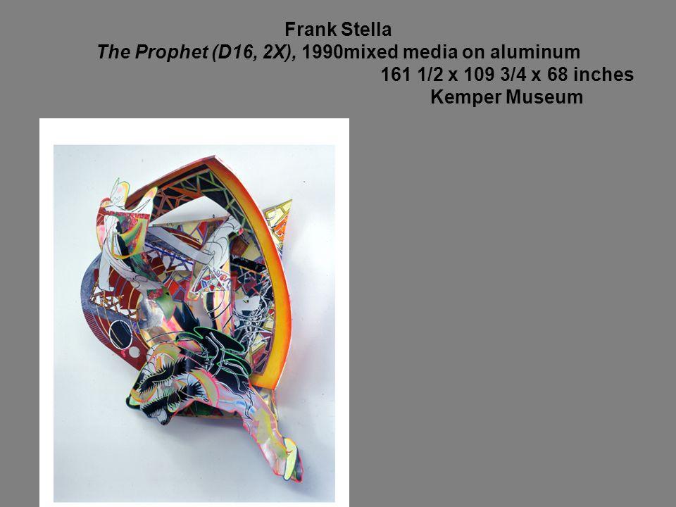 Frank Stella The Prophet (D16, 2X), 1990mixed media on aluminum
