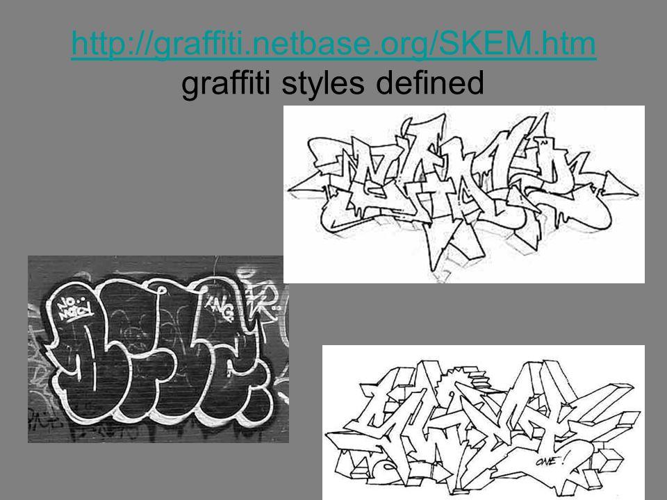 http://graffiti.netbase.org/SKEM.htm graffiti styles defined