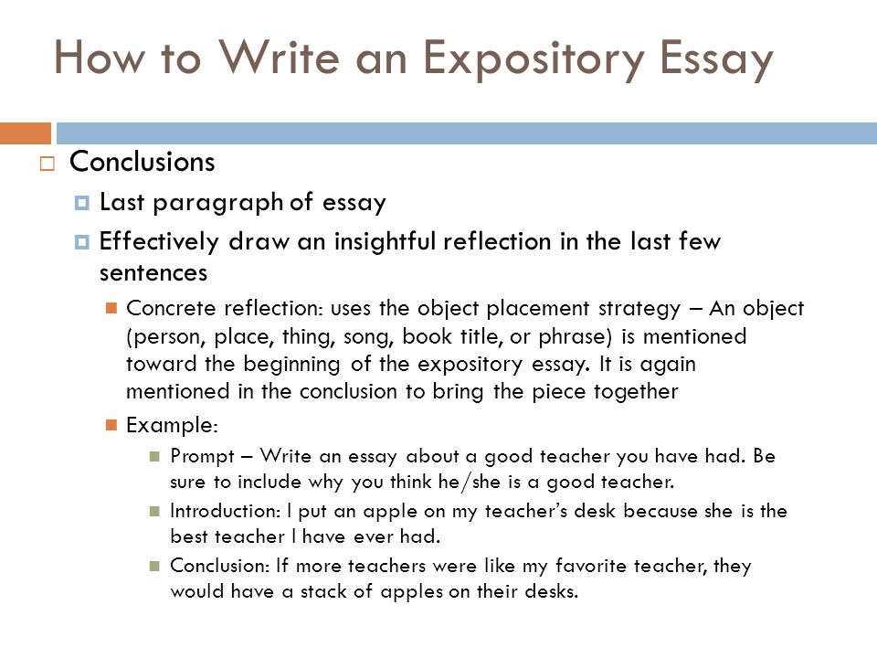 How to write an expository essay introduction