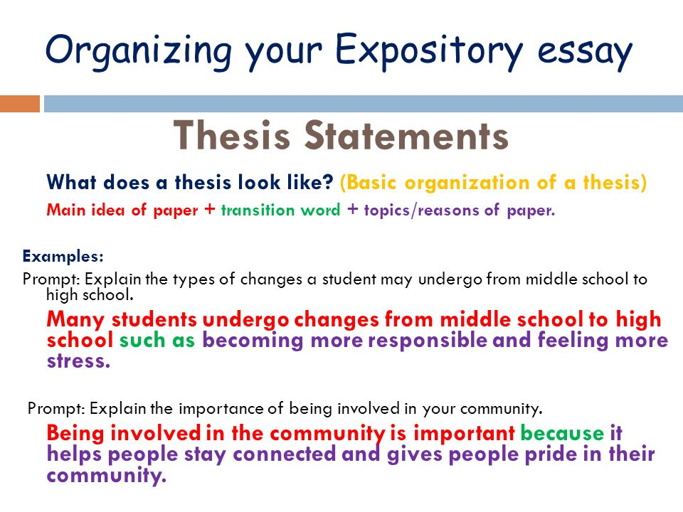 expository explanatory thesis statement Expository essay  vs persuasive essay expository essay • an essay that explains  the thesis statement must be.