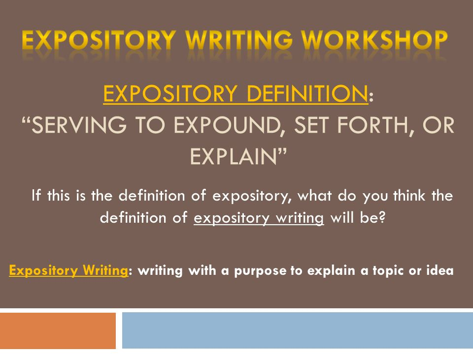 4 Expository Definition: ...