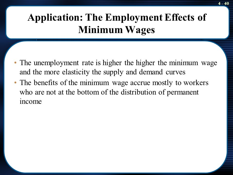 effects and benefits of minimum wage economics essay Small business employment the minimum wage directly affects small businesses because a large amount of their earnings go directly to pay for operating expenses, such as equipment, supplies, lease or mortgage, credit lines, inventory, and employee wages and benefits.