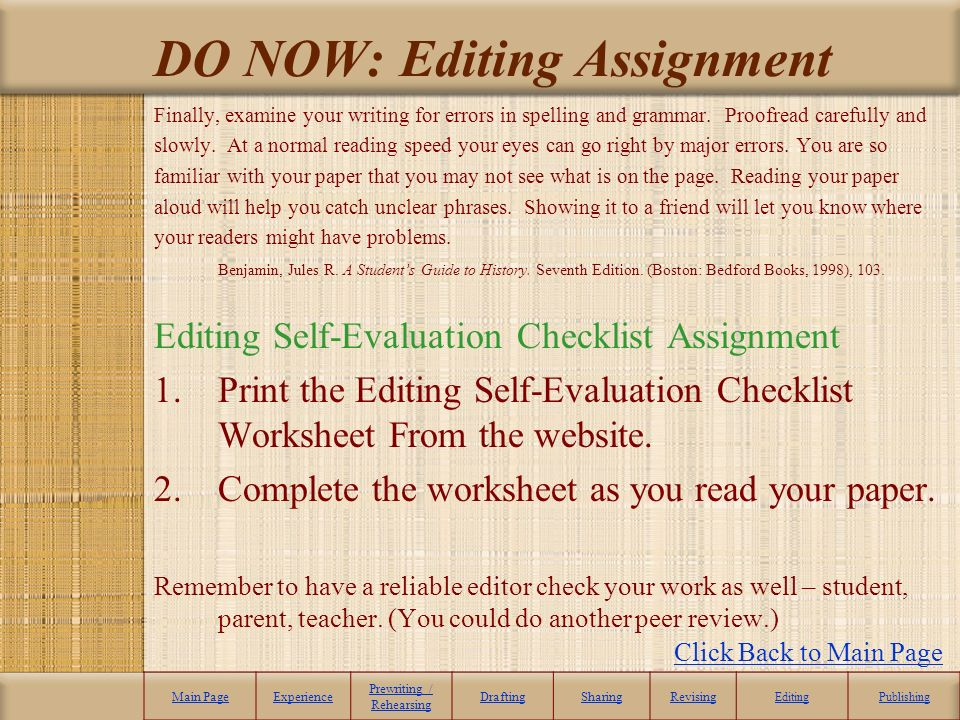 revised evaluation plan essay
