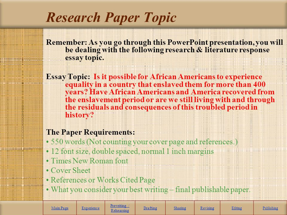 American history research paper
