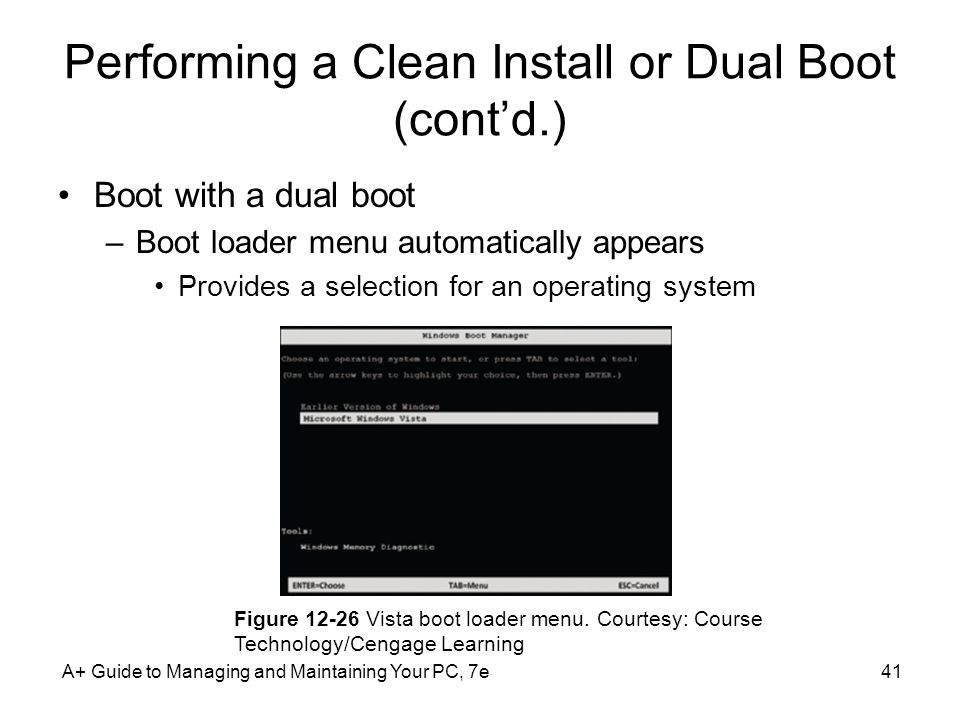Performing a Clean Install or Dual Boot (cont'd.)