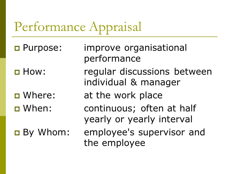 Appraising Performance ppt download – Yearly Appraisal