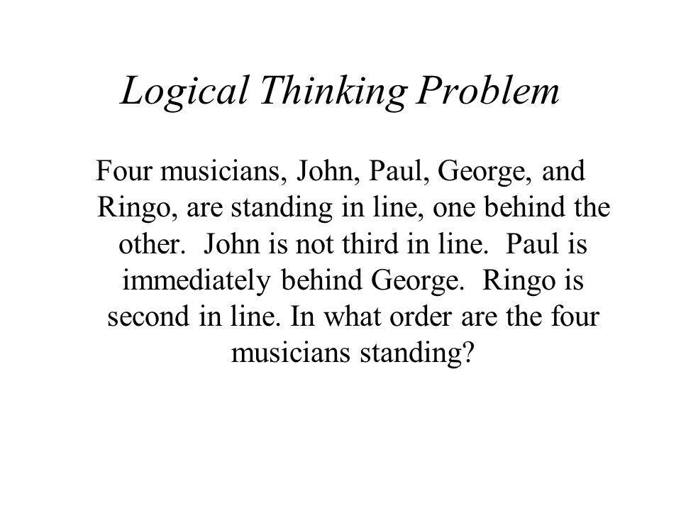 Logical Thinking Problem
