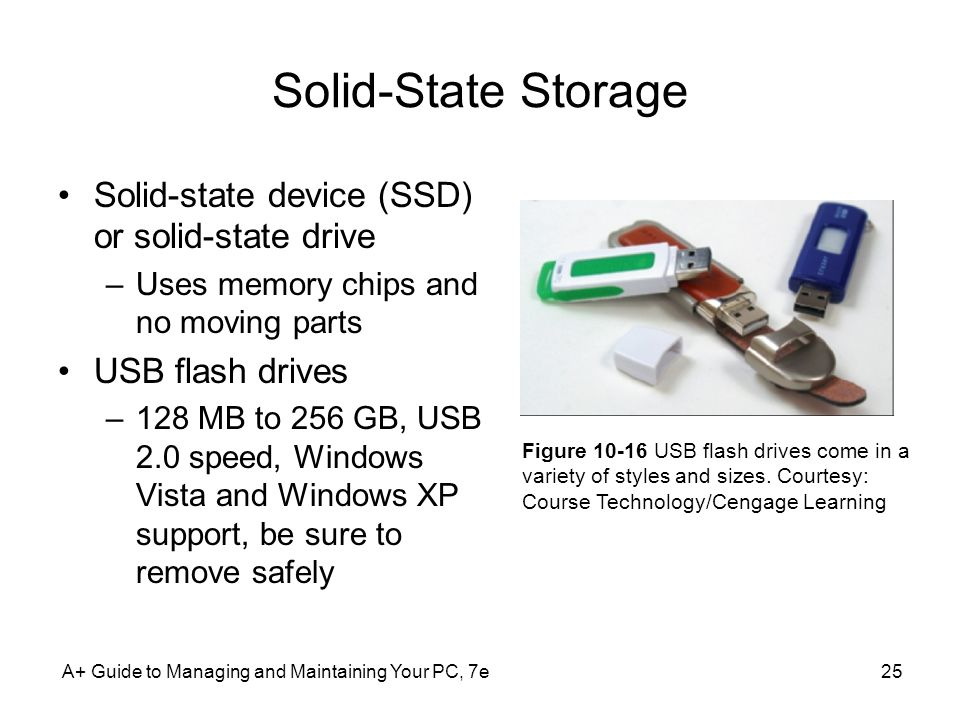Solid-State Storage Solid-state device (SSD) or solid-state drive