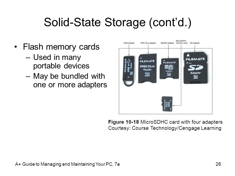 Solid-State Storage (cont'd.)