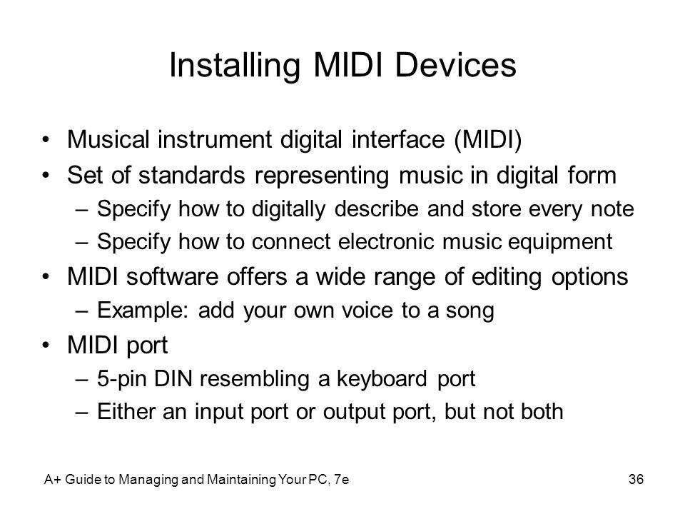 Installing MIDI Devices