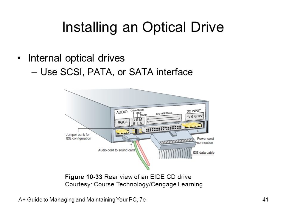 Installing an Optical Drive