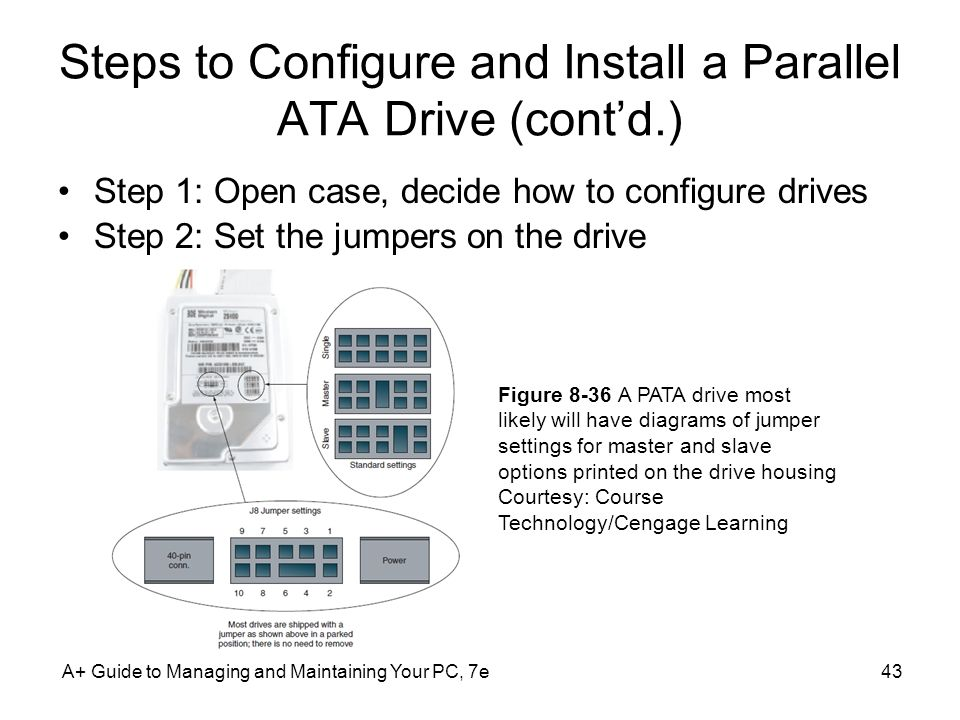 Steps to Configure and Install a Parallel ATA Drive (cont'd.)