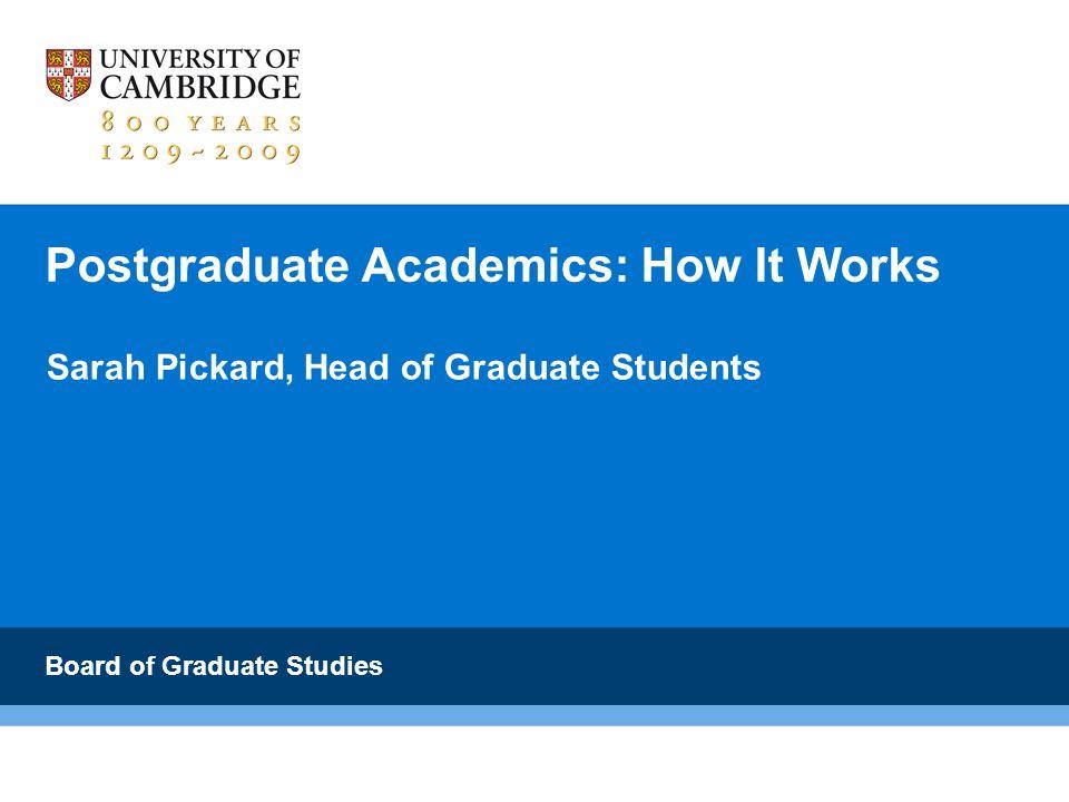 Postgraduate Academics: How It Works