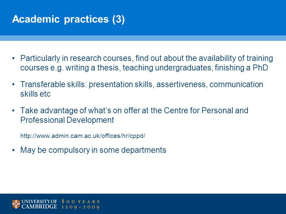 Academic practices (3)