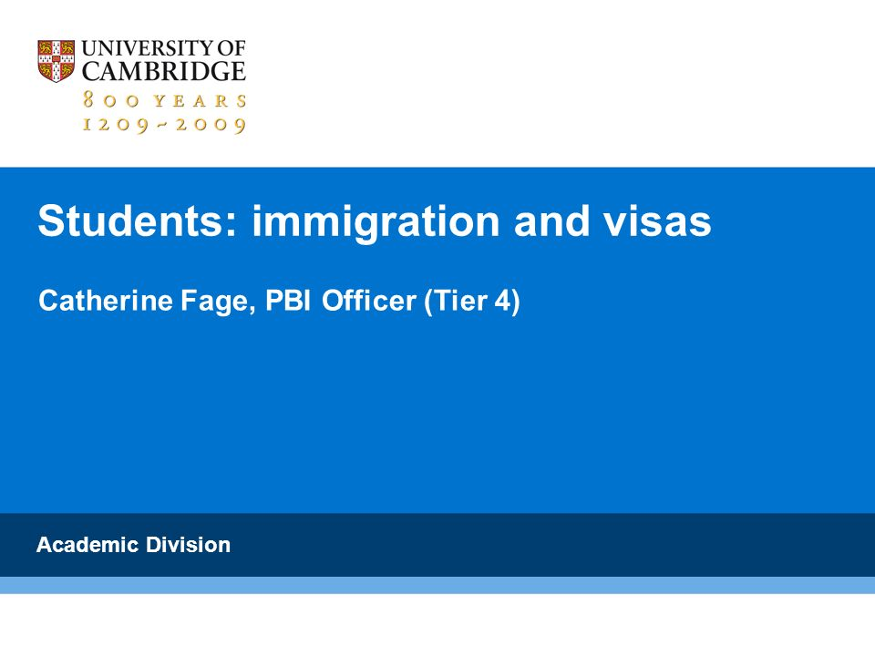 Students: immigration and visas