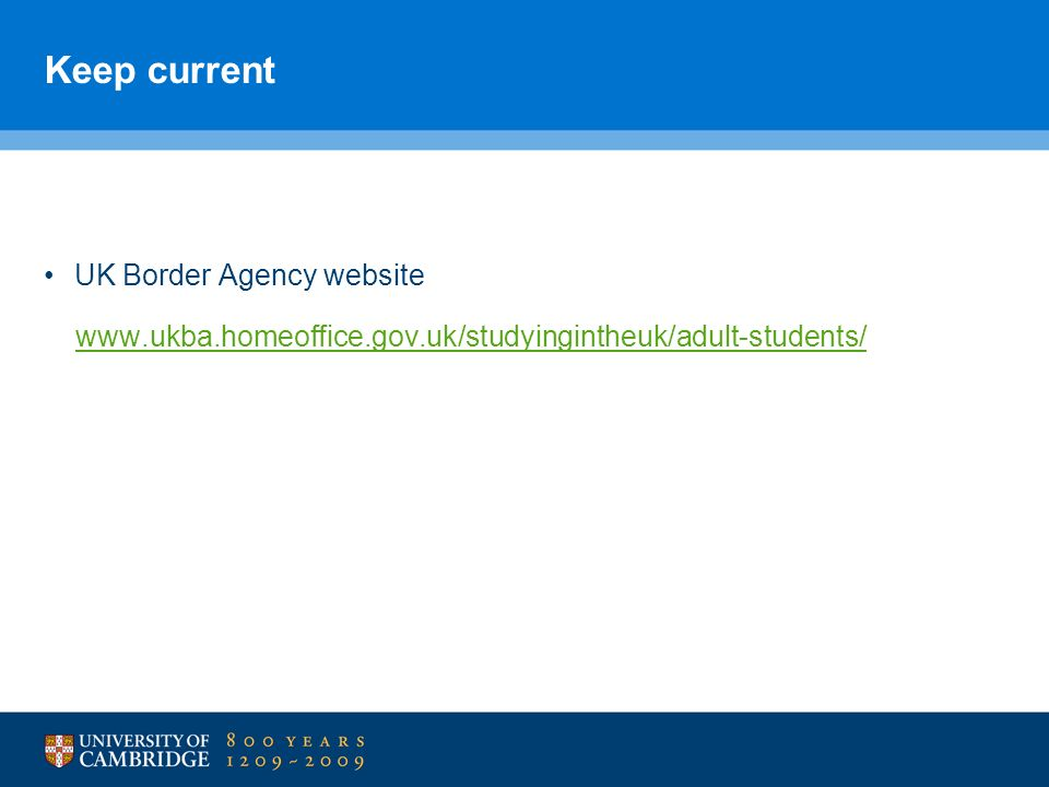 Keep current UK Border Agency website