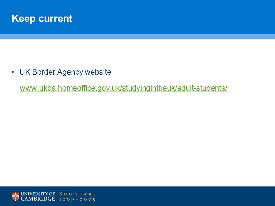 Keep current UK Border Agency website