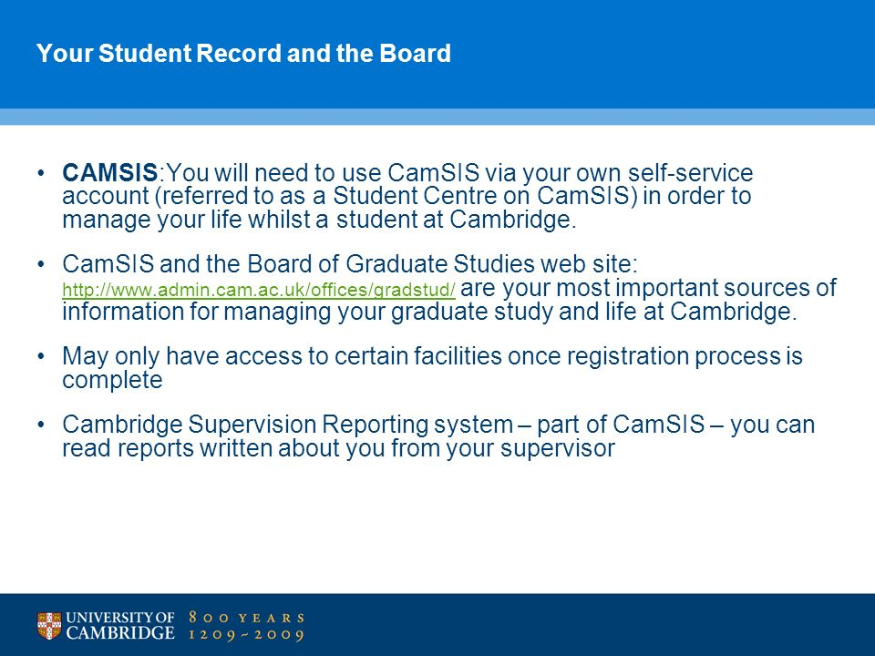 Your Student Record and the Board