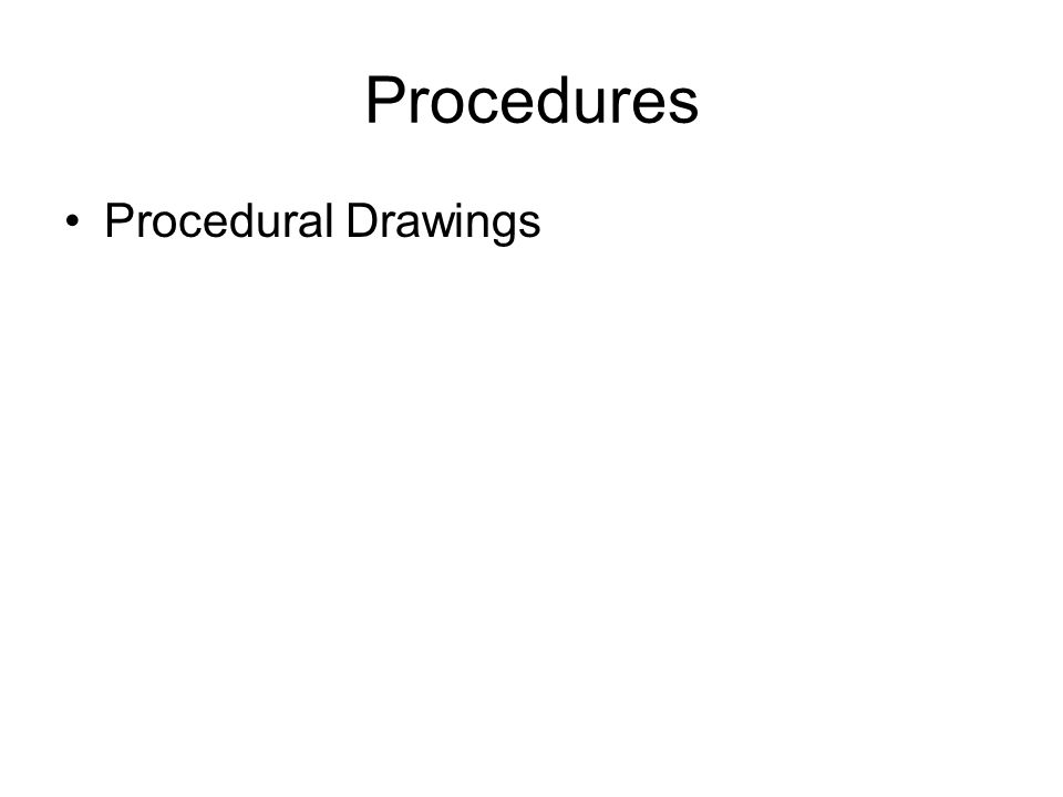 Procedures Procedural Drawings