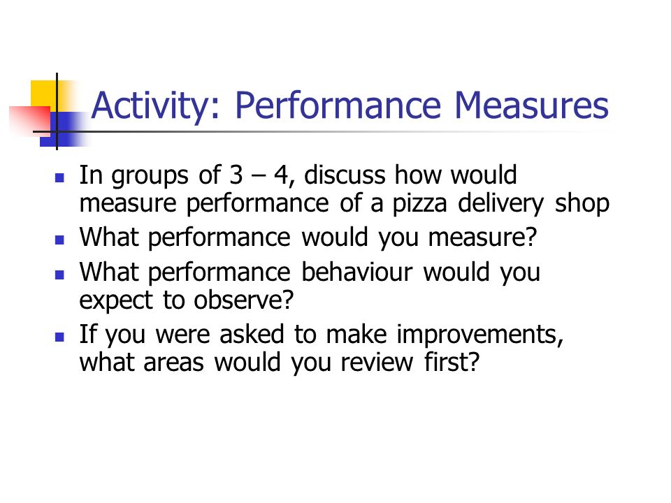 Discuss the importance of performance measurement within a project