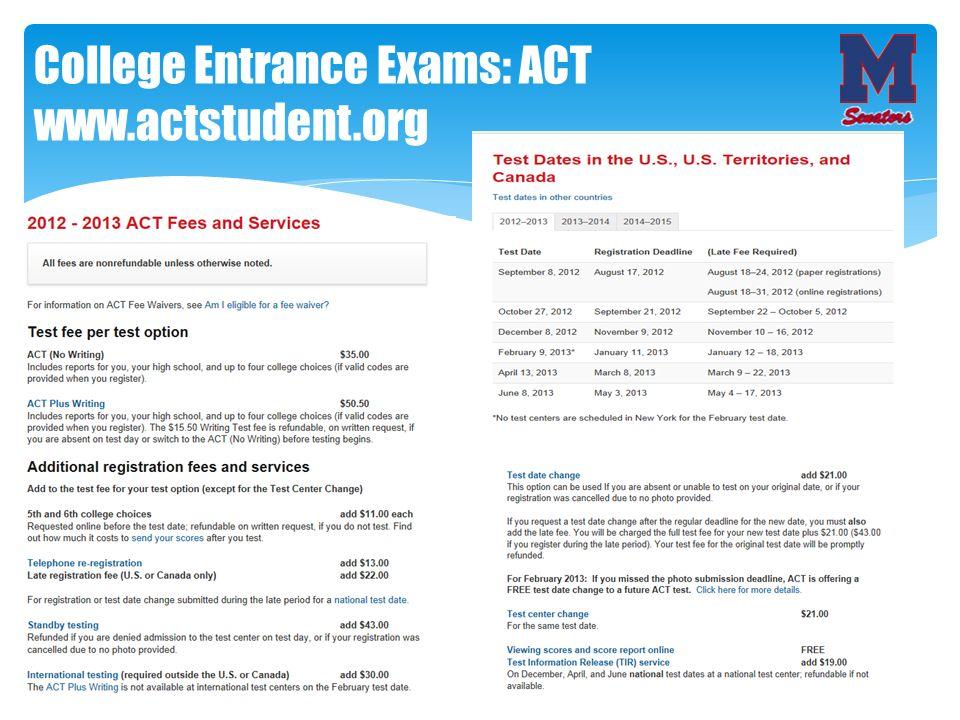 College Entrance Exams: ACT