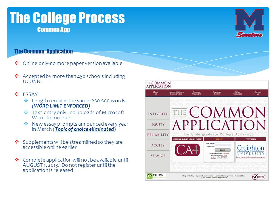 The College Process Common App