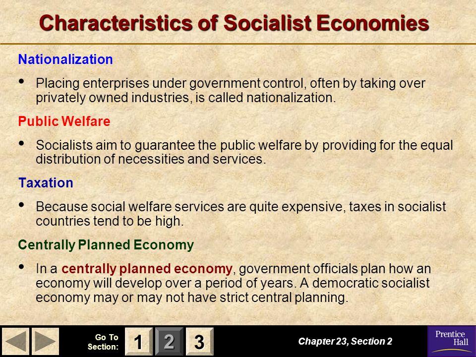 Characteristics of Socialist Economies