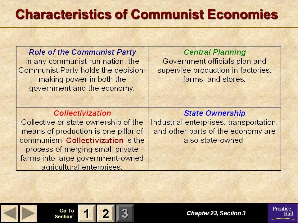 Characteristics of Communist Economies