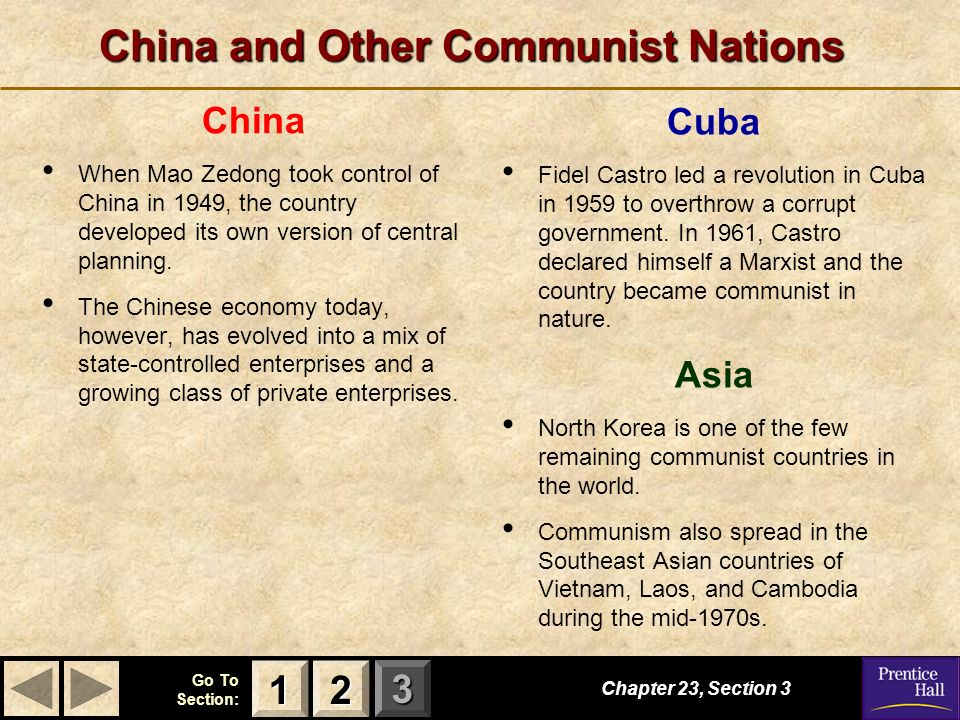China and Other Communist Nations