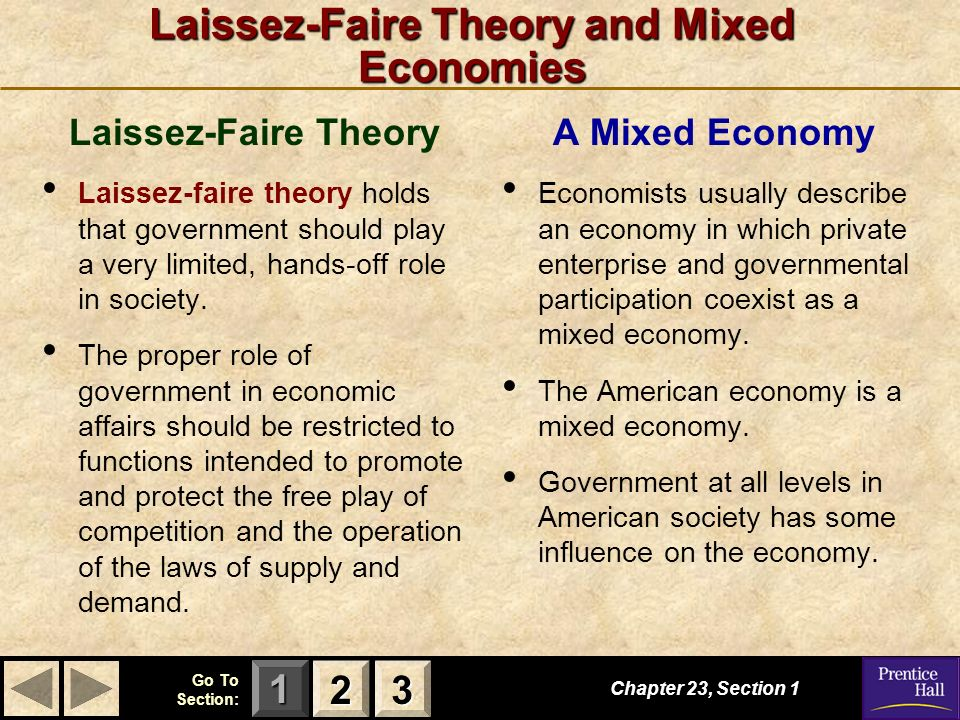 Laissez-Faire Theory and Mixed Economies