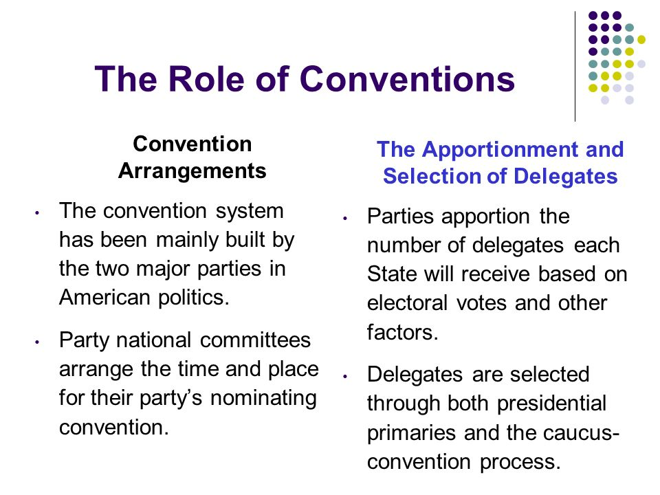The Role of Conventions