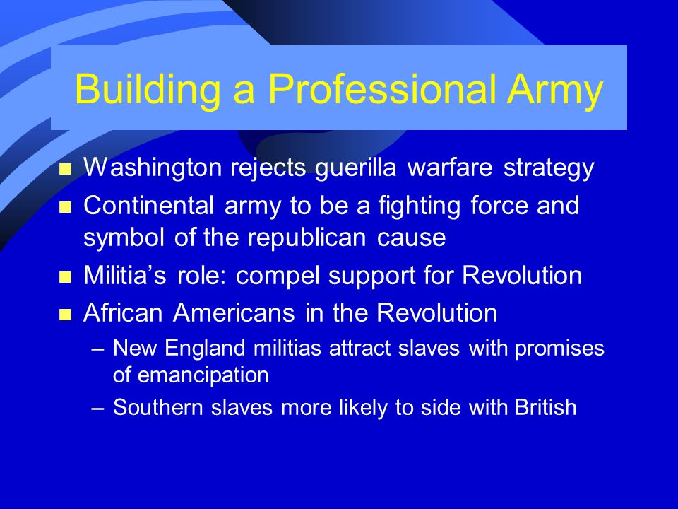 Building a Professional Army