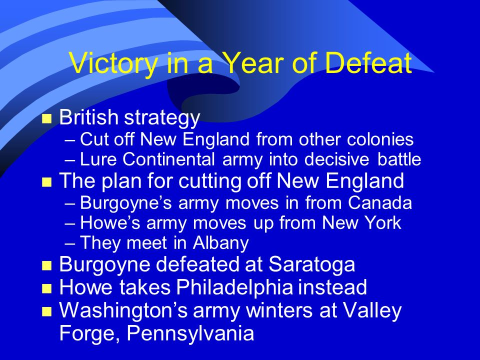 Victory in a Year of Defeat