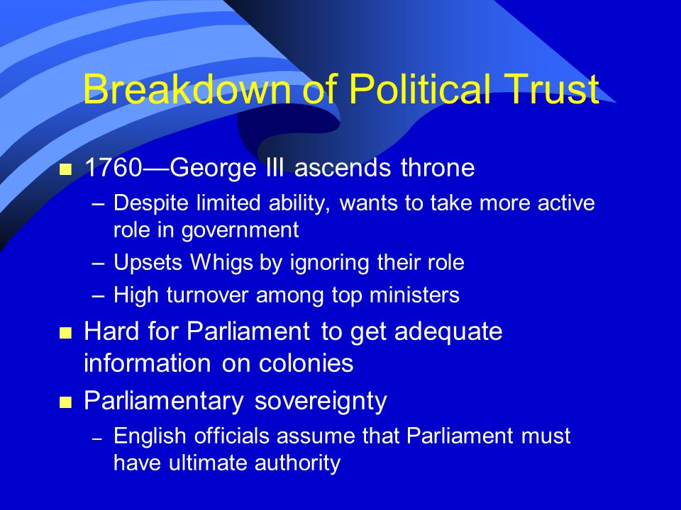 Breakdown of Political Trust