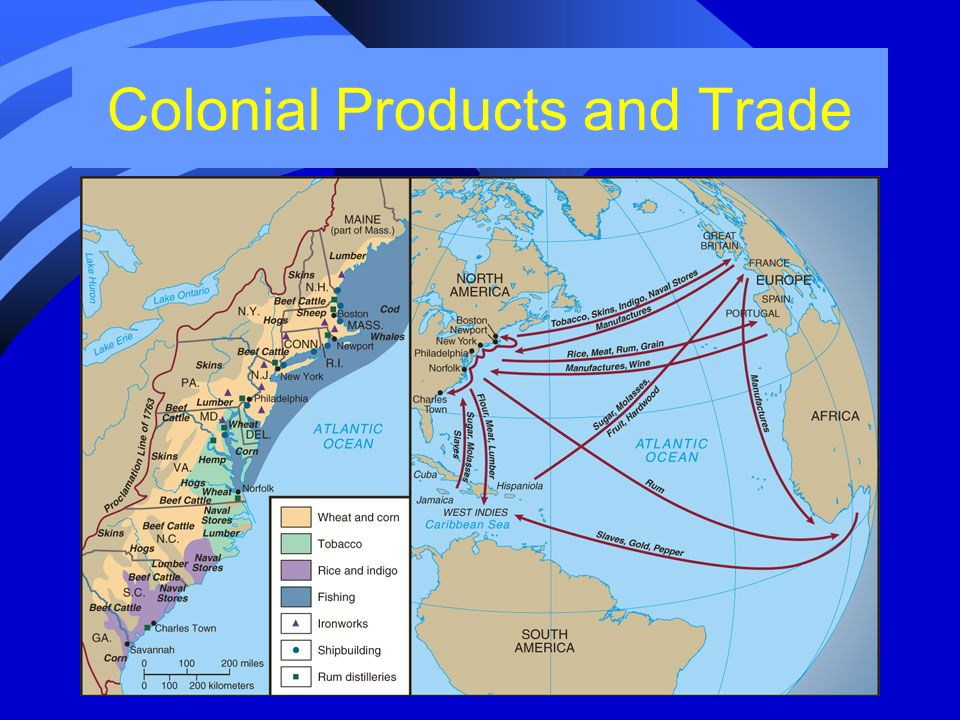 Colonial Products and Trade